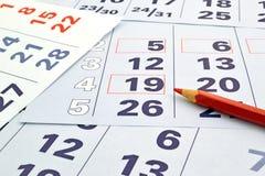 Miesiąca kalendarz Zdjęcie Royalty Free