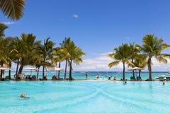 Miesiąca miodowego o tropikalna wyspa Mauritius Zdjęcia Royalty Free