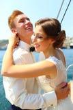 Miesiąca miodowego rejs na jachcie Obraz Royalty Free