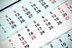 Miesięcznika kalendarz Obrazy Stock