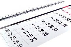 Miesięcznika kalendarz Fotografia Stock