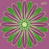 Miesięczny round kalendarz dla 2015 ilustracji