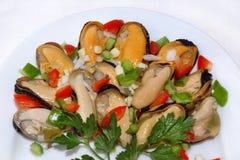 Miesmuschel-Salat Lizenzfreie Stockfotos