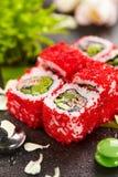 Miesmuschel-Sushi-Rolle Stockbilder