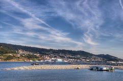 Miesmuscheln im Ria De Vigo Stockbilder