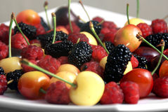 mieszać jagod wiśnie Zdjęcia Stock