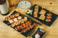 Mieszać Japoński karmowy Izakaya styl, Bawi się ustalonego menu pojęcie Zdjęcie Stock