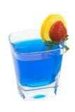 mieszający błękitny kolorowy napój zdjęcia royalty free
