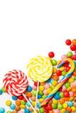 mieszająca kolorowa bonbon owoc Odgórny widok Obrazy Royalty Free