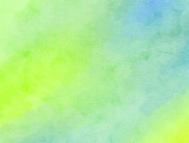 Mieszająca Zielona akwareli farby tekstura Zdjęcie Stock