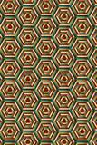 Mieszający Heksagonalny druk royalty ilustracja