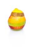 Mieszana owoc na bielu - doskonalić kształt, żadny cięcia Zdjęcia Royalty Free
