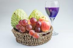 Mieszana owoc odizolowywa na białym tle Zdjęcia Royalty Free