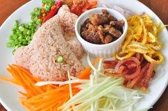 mieszana pasty ryż garnela Zdjęcie Stock