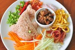 mieszana pasty ryż garnela Obrazy Stock