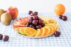 mieszana pokrojona owoc Zdjęcie Royalty Free