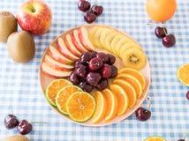mieszana pokrojona owoc Obrazy Royalty Free