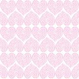 Mieszane śliczne serce menchii róże w białego tła kwiecistym bezszwowym wzorze royalty ilustracja