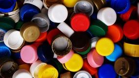 mieszane butelek nakrętki Fotografia Stock
