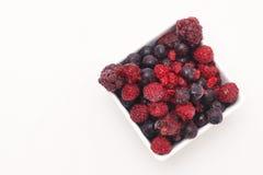 Mieszane jagody wliczając malinki, czarna jagoda, czernicy Obraz Royalty Free