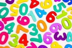 Mieszane liczby Różni Colours Zdjęcie Royalty Free