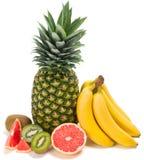 Mieszane owoc na bielu Zdjęcia Royalty Free
