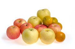 Mieszanek owoc: Ścinek ścieżka zawierać obraz royalty free