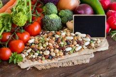 Mieszani legumes i warzywa Fotografia Royalty Free