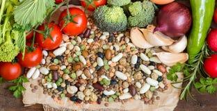 Mieszani legumes i warzywa Zdjęcie Stock