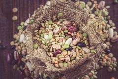 Mieszani legumes i zboża Fotografia Royalty Free