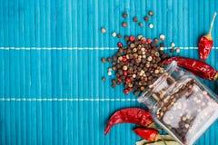 Mieszani peppercorns fotografia stock