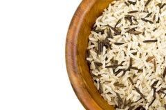 Mieszani ryż w drewnianym pucharze Fotografia Royalty Free