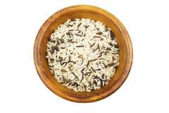 Mieszani ryż w drewnianym pucharze Fotografia Stock