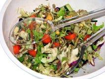 mieszani sałatkowi tongs Zdjęcia Stock