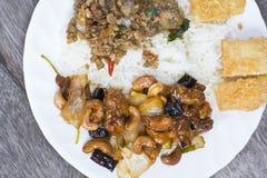 Mieszani Tajlandzcy ryż i curry Fotografia Royalty Free