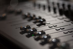 mieszanie konsoli audio Zdjęcie Stock