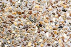 Mieszanka betonu kamienie różni kolory Zdjęcia Stock