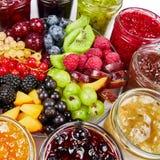 Mieszanka dżemy i owoc Zdjęcie Royalty Free