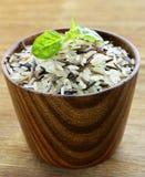 mieszanka dzicy czarny i biały ryż Zdjęcia Stock