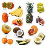 Mieszanka egzotyczne owoc na białym tle zdjęcia royalty free