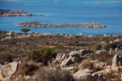 Mieszanka granit i morze Obrazy Royalty Free