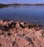 Mieszanka granit i morze Fotografia Royalty Free
