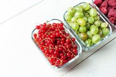 Mieszanka jagody na białym tle Zdjęcie Stock