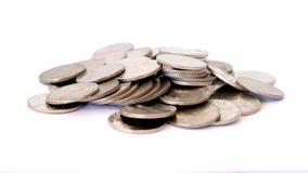 Mieszanka pieniądze menniczy Tajlandzki baht Fotografia Stock