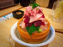 Mieszanka tuńczyka sashimi Obrazy Stock