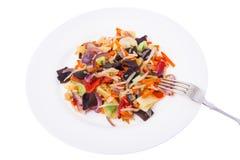 Mieszanka warzywa z pieczarki mun, flance soje w śliwkach Fotografia Royalty Free