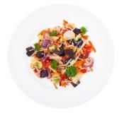 Mieszanka warzywa z pieczarki mun, flance soje w śliwkach Obrazy Stock