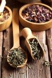 Mieszanka wysuszeni herbaciani liście Fotografia Stock