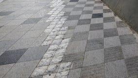 Mieszanka wzoru i tekstury betonowy bruk Fotografia Royalty Free