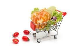 mieszanki świeży warzywo w wózek na zakupy obrazy royalty free